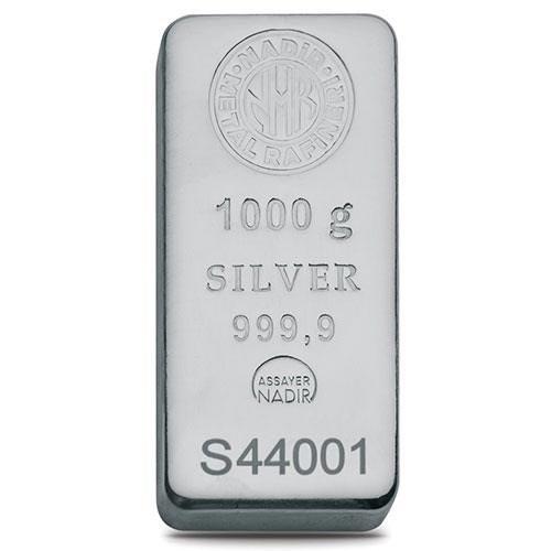 1000gr Gümüş Külçe