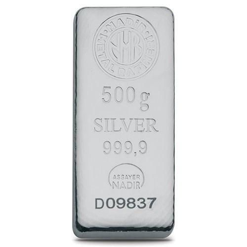 500gr Gümüş Külçe