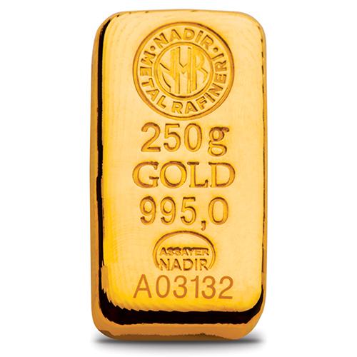 24 Ayar 250gr Külçe Altın